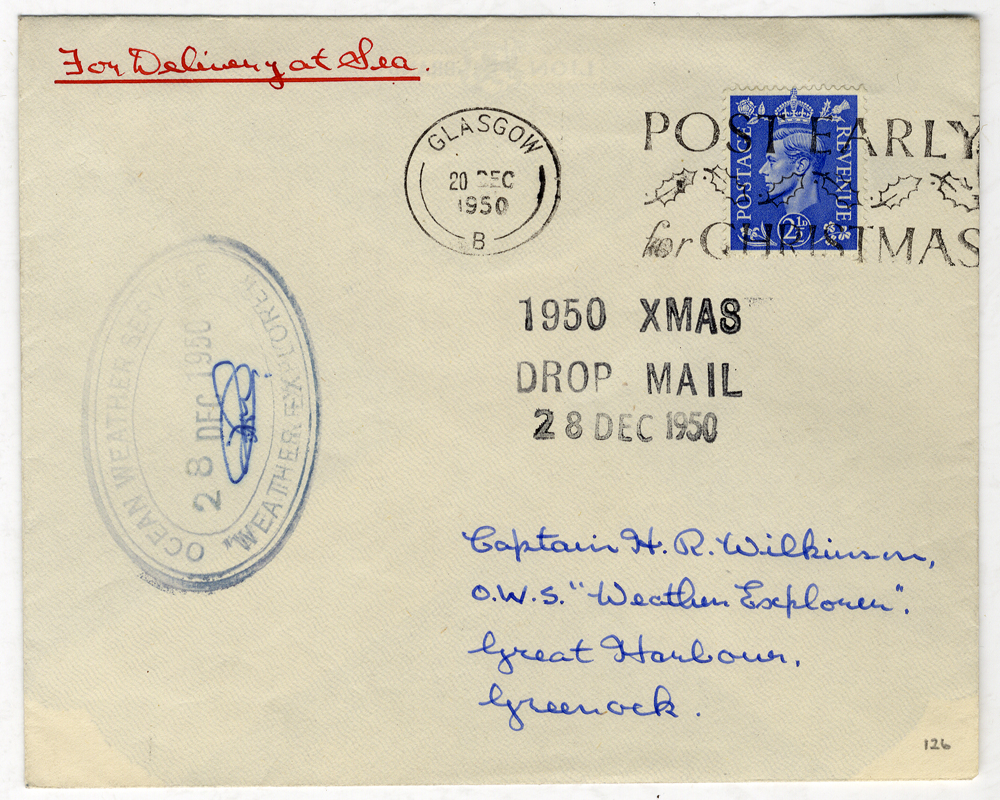 1950 Dec 28th RAF LANCASTER Christmas mail flight cover