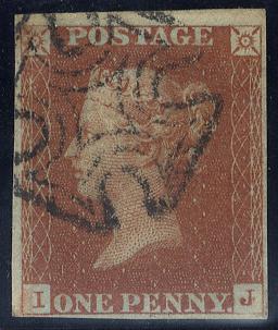 1841 1d red IJ - Cork MC