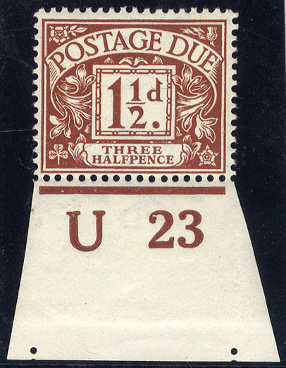 1914 Wmk Simple Cypher 1½d chestnut
