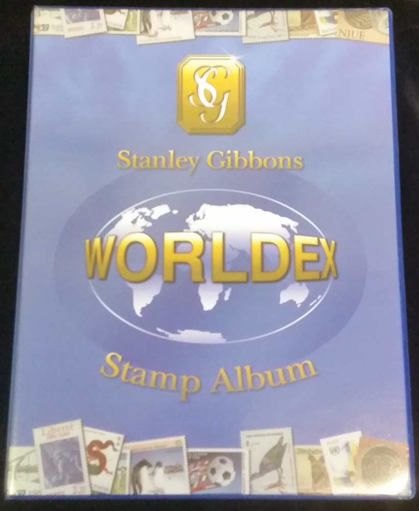 WORLDEX ALBUM (BRAND NEW) with 128 white cartridge leaves pre-printed with country headings - RRP £29.95
