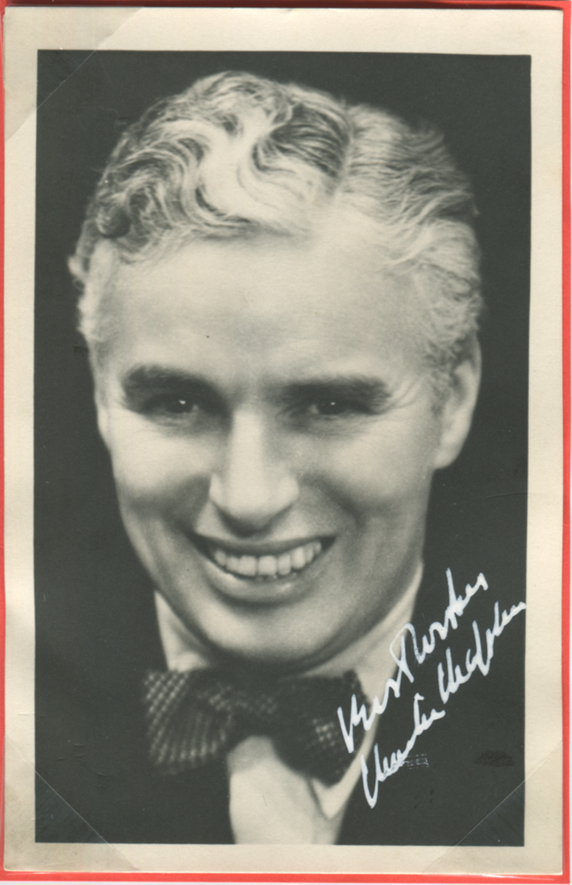 CHAPLIN, CHARLES 1889-1977 (British film comdeian) Acadamy Award Winner