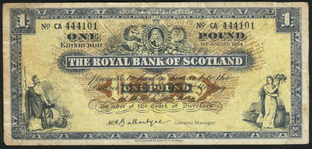 Royal Bank of Scotland £1 Ballantyne