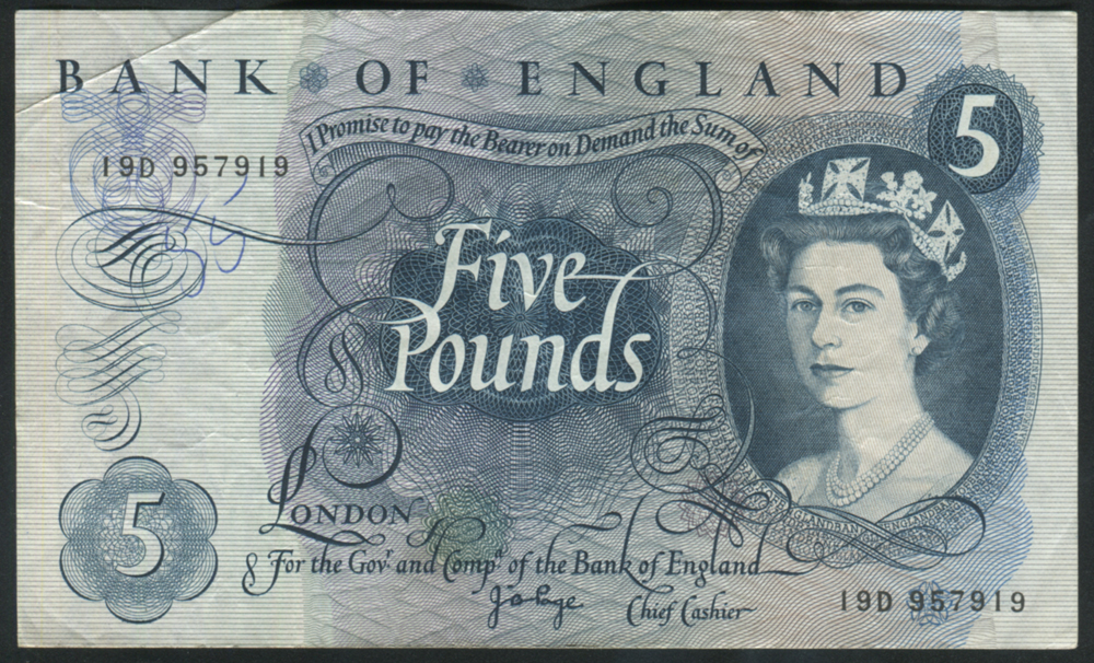 1971 £5 Page