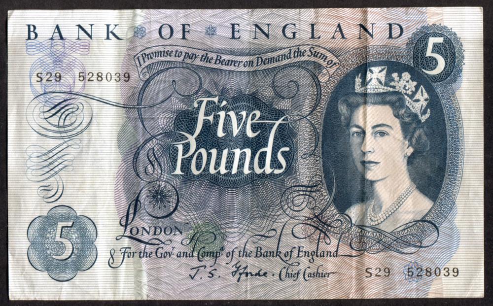 1967 £5 Fforde