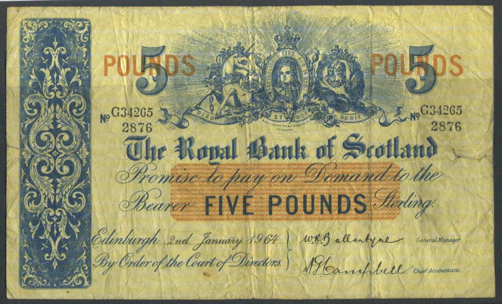 1964 Ballantyne/Campbell £5