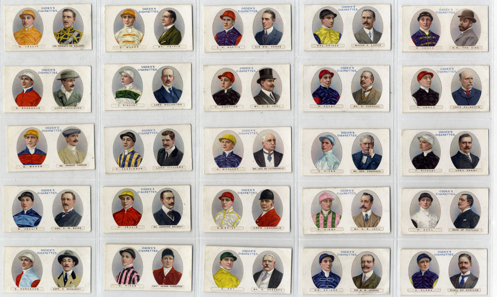 Ogdens 1914 Owners racing colours & Jockeys, complete set of 25, Cat. £105
