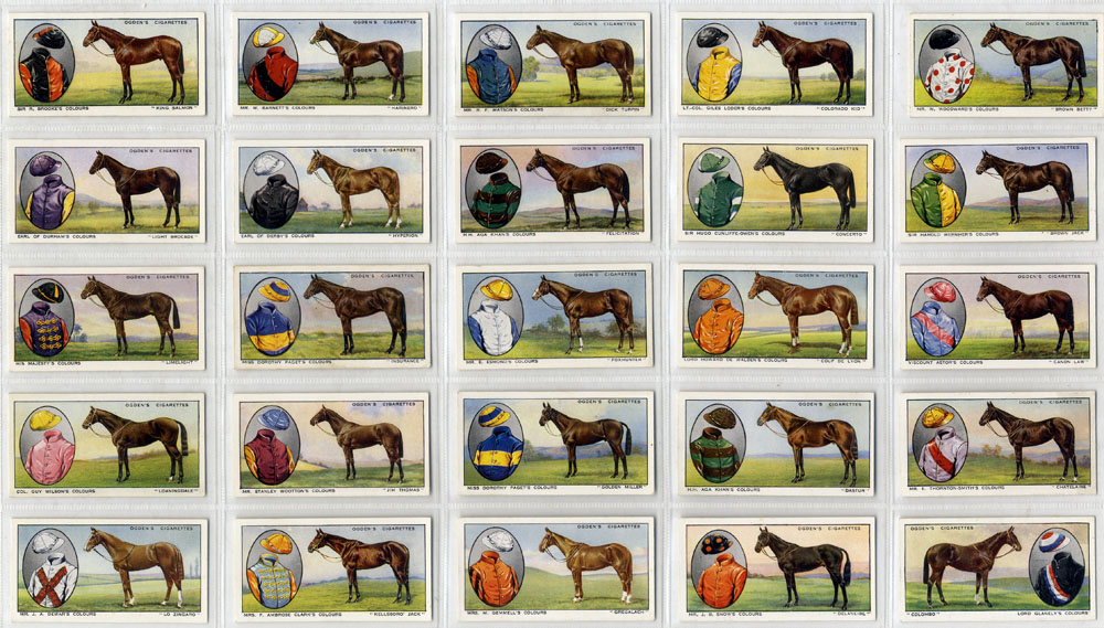 Ogdens 1934 Prominent Racehorses of 1933, complete set of 50, Cat. £100