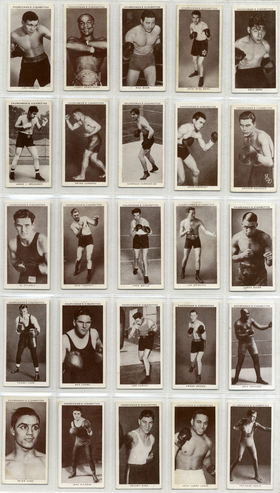 Churchman 1938 Boxing Personalities, complete set of 50, Cat. £100