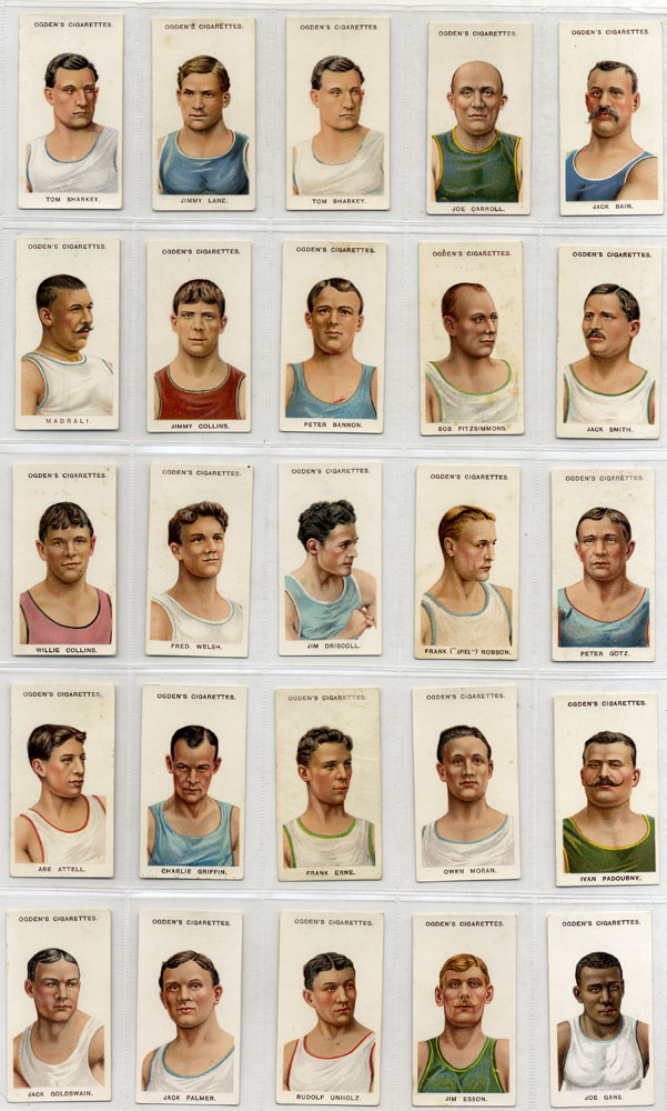 Ogdens 1908 Pugilists & Wrestlers - 47 different, Cat. £258
