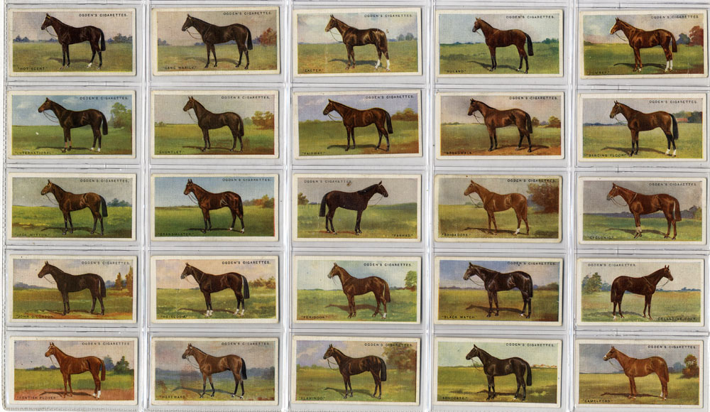 Ogdens 1928 Derby Entrnats, complete set of 50, Cat. £120