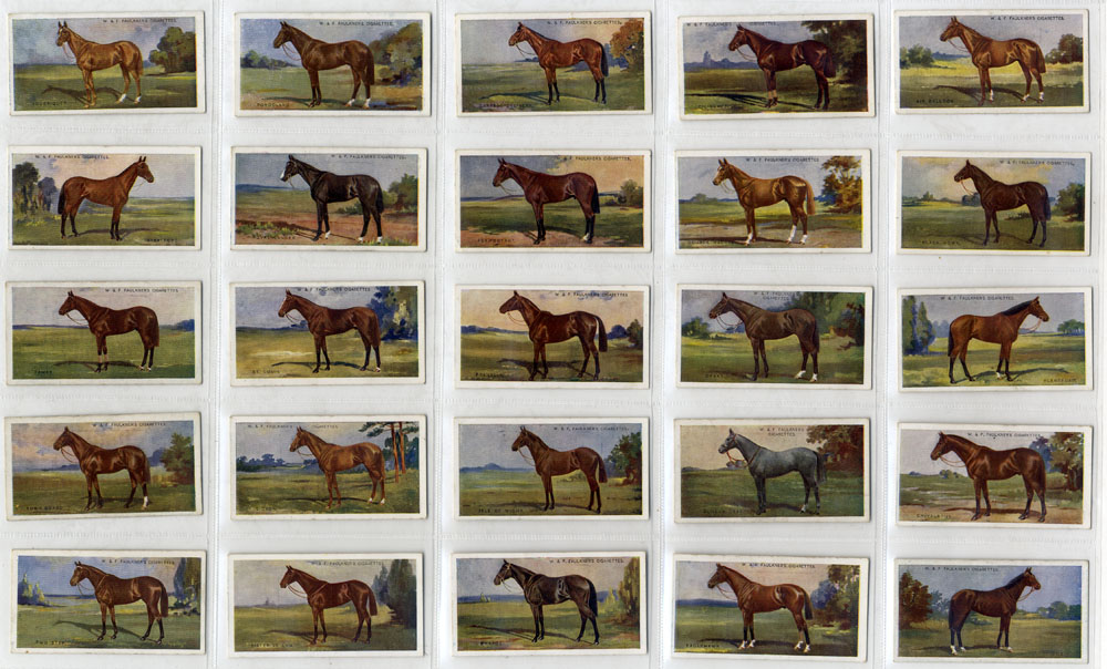 Faulkner 1923 Prominent racehorses of the present day, complete set of 25, Cat. £85