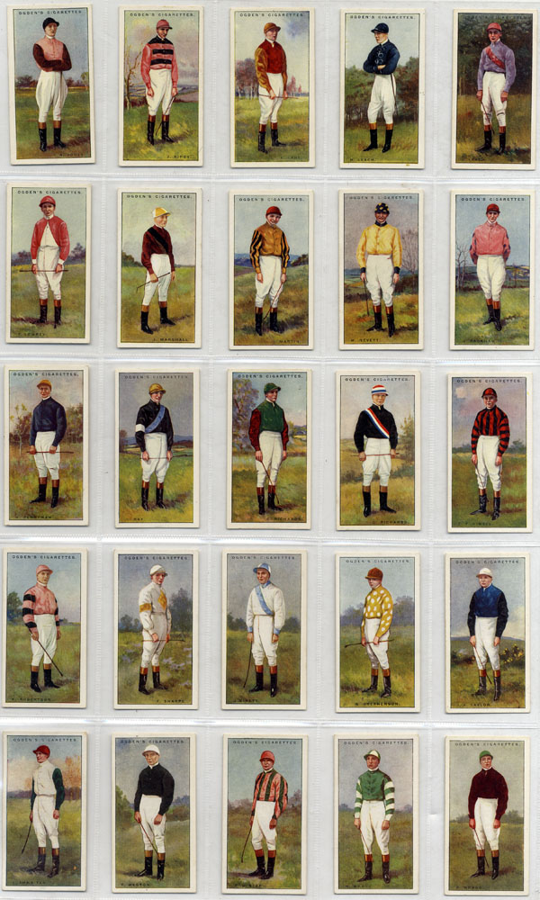 Ogdens 1930 Jockeys, complete set of 50,Cat. £125