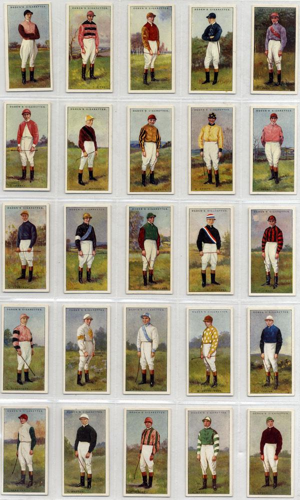 Ogdens 1930 Jockeys, complete set of 50,Cat. £125