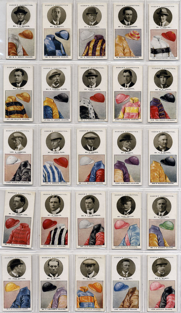Ogdens 1925 Trainers & Owners colours, 1st series, complete set of 25, Cat. £62.50