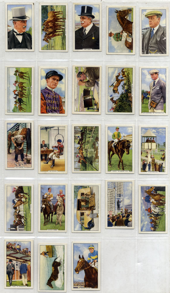 Gallaher 1938 Racing Scenes, complete set of 48, Cat. £36