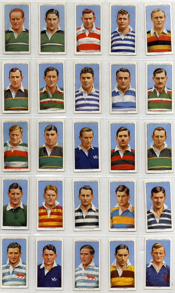 Churchman 1935 Rugby International, complete set of 50, Cat. £95