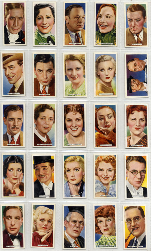 Ardath 1935 Film, Stage and Radio Stars, complete set of 50, Cat. £50