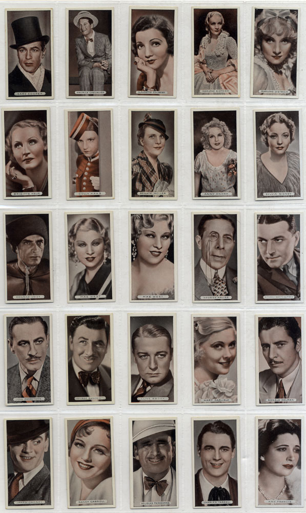 Ardath 1934 Famous Film Stars, complete set of 50, Cat. £50