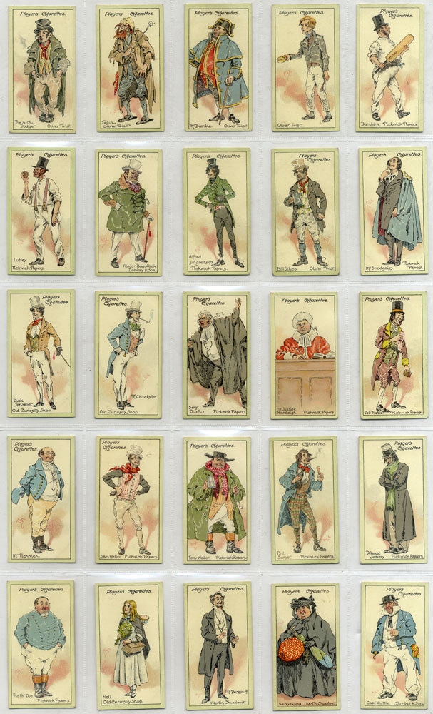 John Player 1923 Characters from Dickens, complete set of 50, Cat. £70