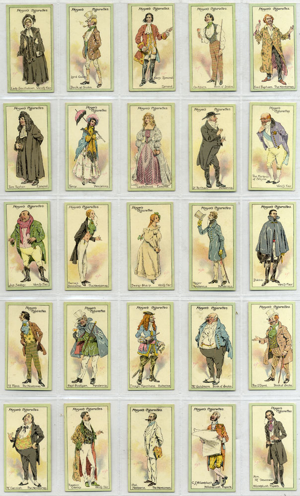 John Player 1913 Characters from Thackeray, complete set of 25, Cat. £35