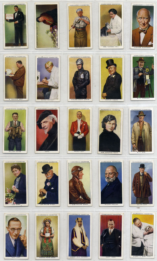 Churchman 1938 In Town To Night, complete set of 50, Cat. £25