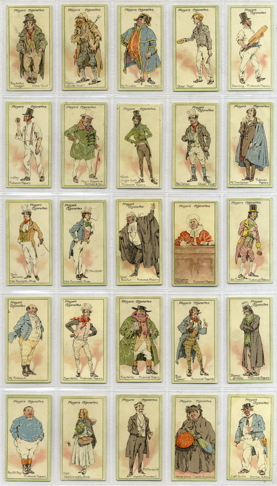 John Player 1912 Characters from Dickens A series, complete set of 25, Cat. £50