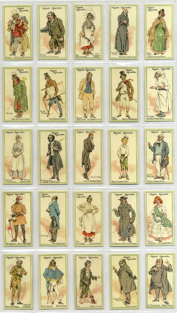 John Player 1912 Characters from Dickens 2nd series, complete set of 25, Cat. £50