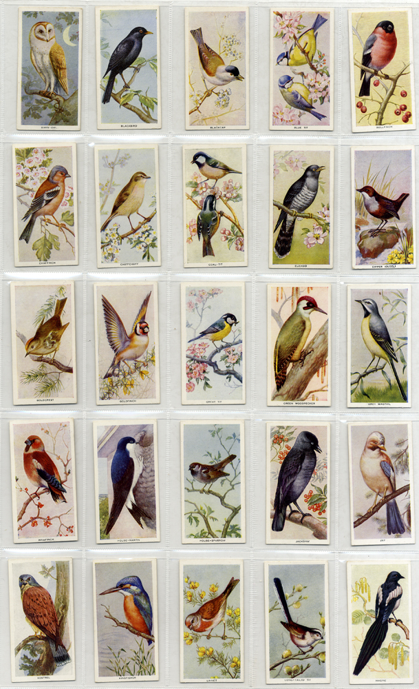 Carreras 1939 Birds of the Countryside, complete set of 50, Cat. £55