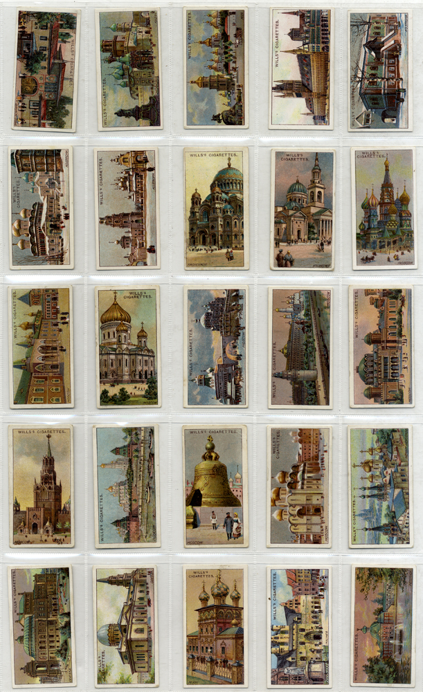 Wills Gems of Russian Architecture, complete set of 50, Cat. £32.50