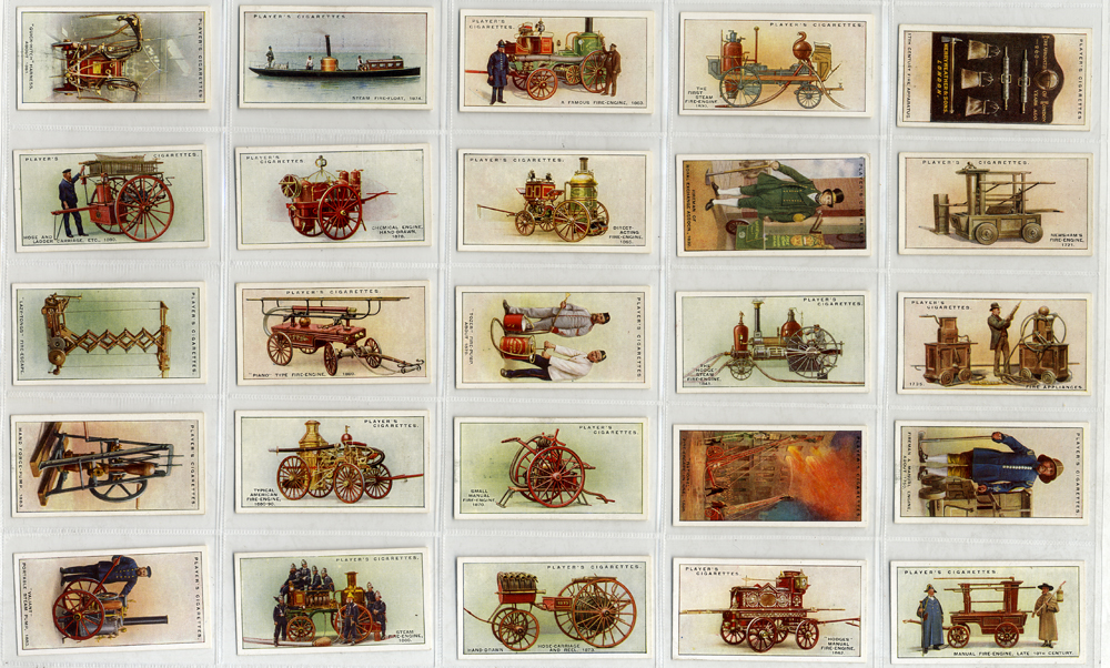 John Player 1930 Fire Fighting Appliances, complete set of 50, Cat. £80