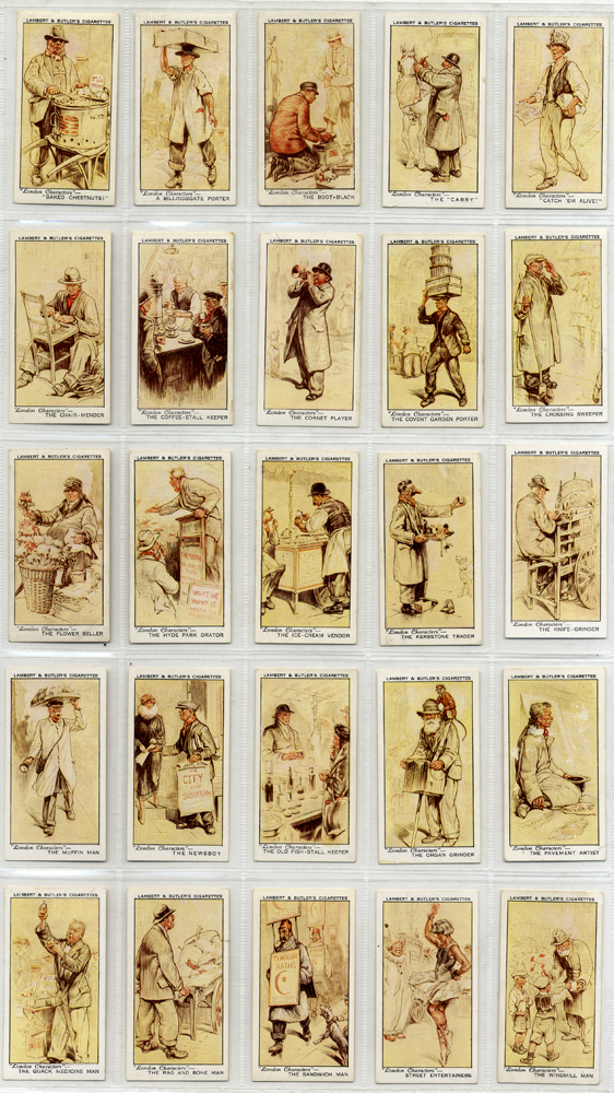 Lambert & Butler, 1934 London Characters, complete set of 25, Cat. £55