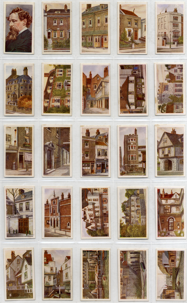 R J Hill 1926 Historic Places from Dickens Classics, complete set of 50,  Cat. £37.50
