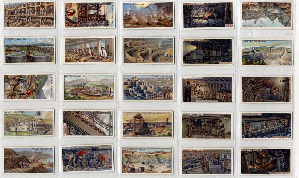 Wills 1916 Mining, complete set of 50, Cat. £75