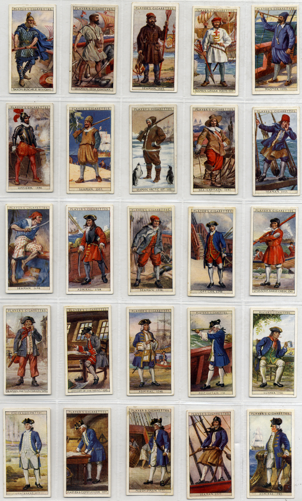 John Player 1930 History of Naval Dress, complete set of 50, Cat. £10