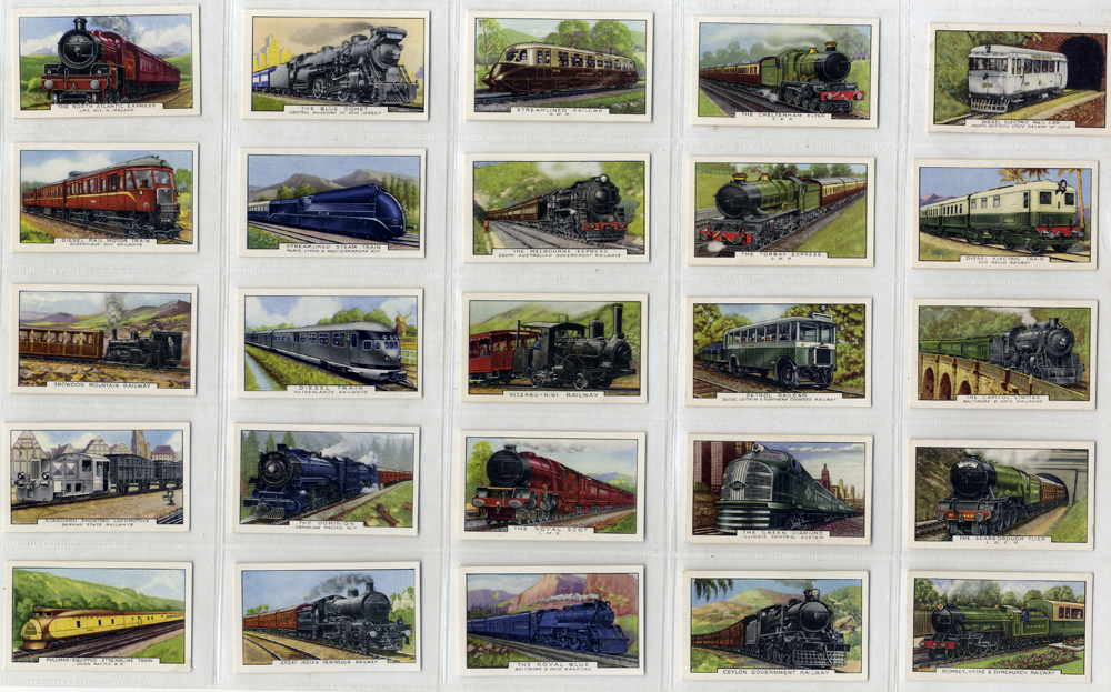 Gallaher 1937 Trains of the World, complete set of 48, Cat. 48