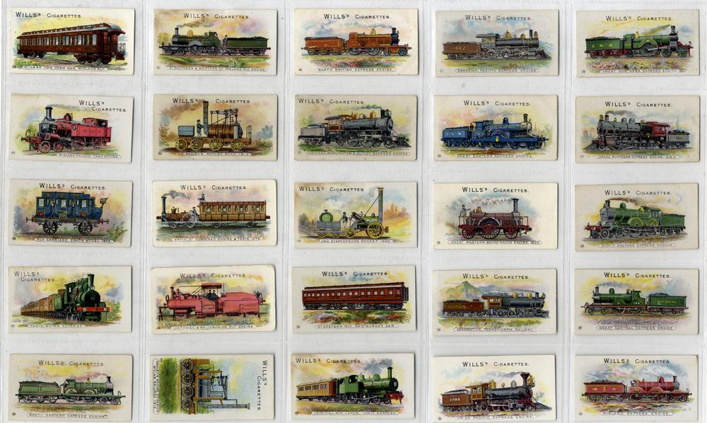 Wills 1901 Locomotives & Rolling Stock, complete set of 50, Cat. £400