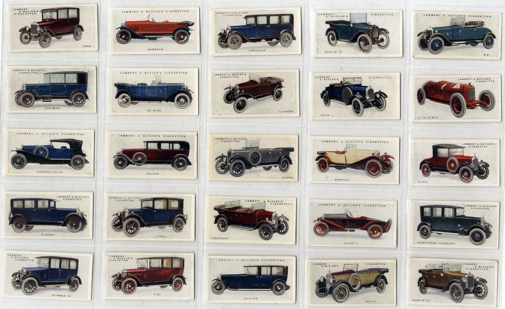 Lambert & Butler 1926 Motor Cars, 3rd series, complete set of 50, Cat. £200