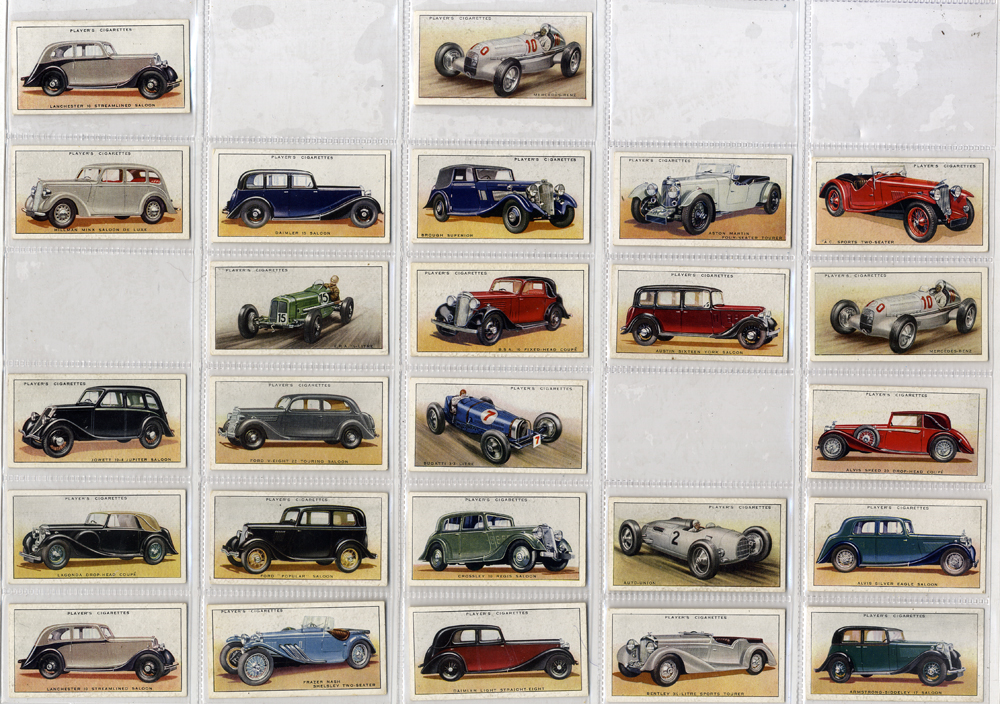 John Player Motor Cars, 48 out of 50 cards, Cat. £72