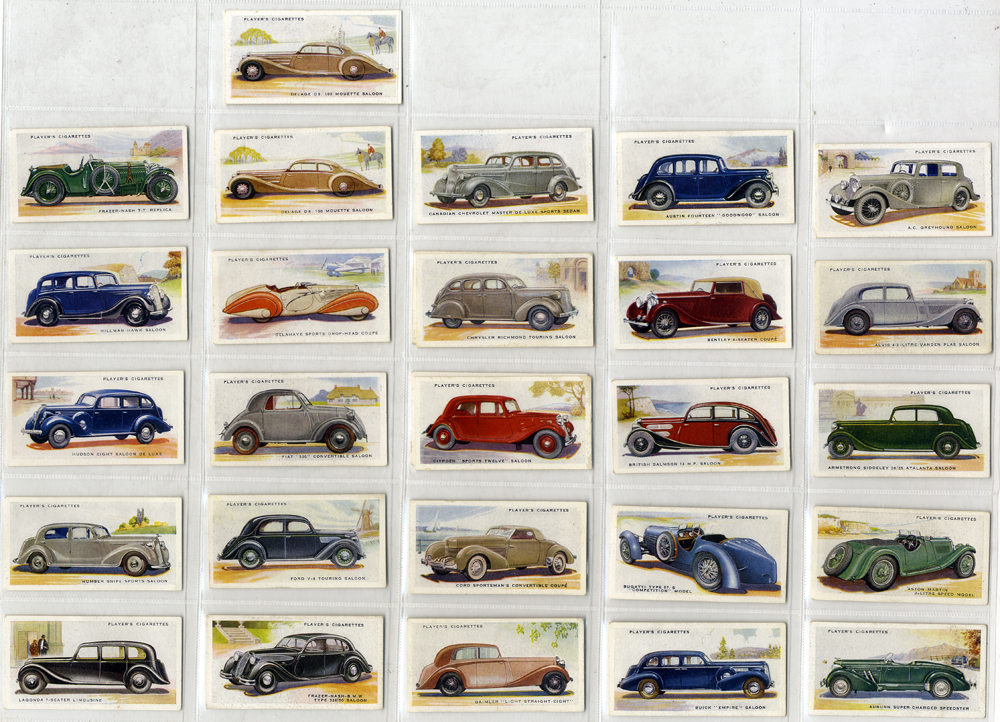 John Player 1937 Motor Cars, 2nd series, complete set of 50, Cat. £50