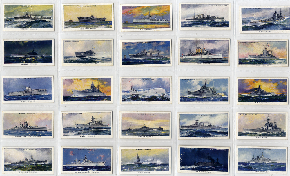 John Player 1939 Modern Naval Craft, complete set of 50, Cat. £30