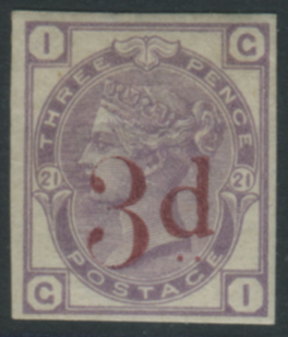 1883 3d on 3d lilac IMPRIMATUR 'GI'