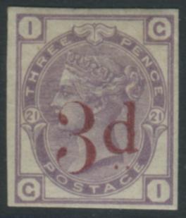1883 3d on 3d lilac IMPRIMATUR 'GI'
