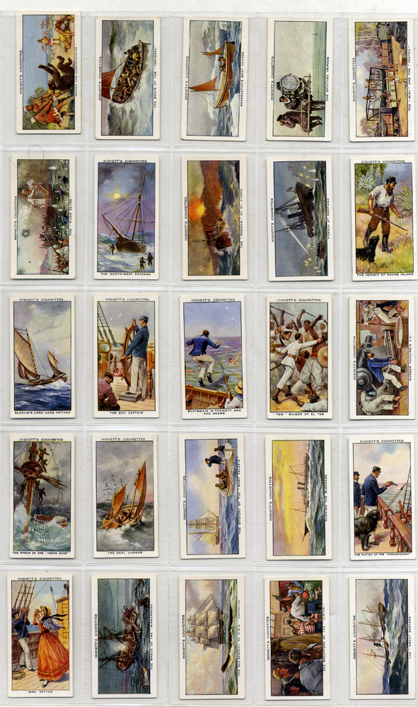 Hignett 1939 Sea Adevnture, complete set of 50, Cat. £37.50