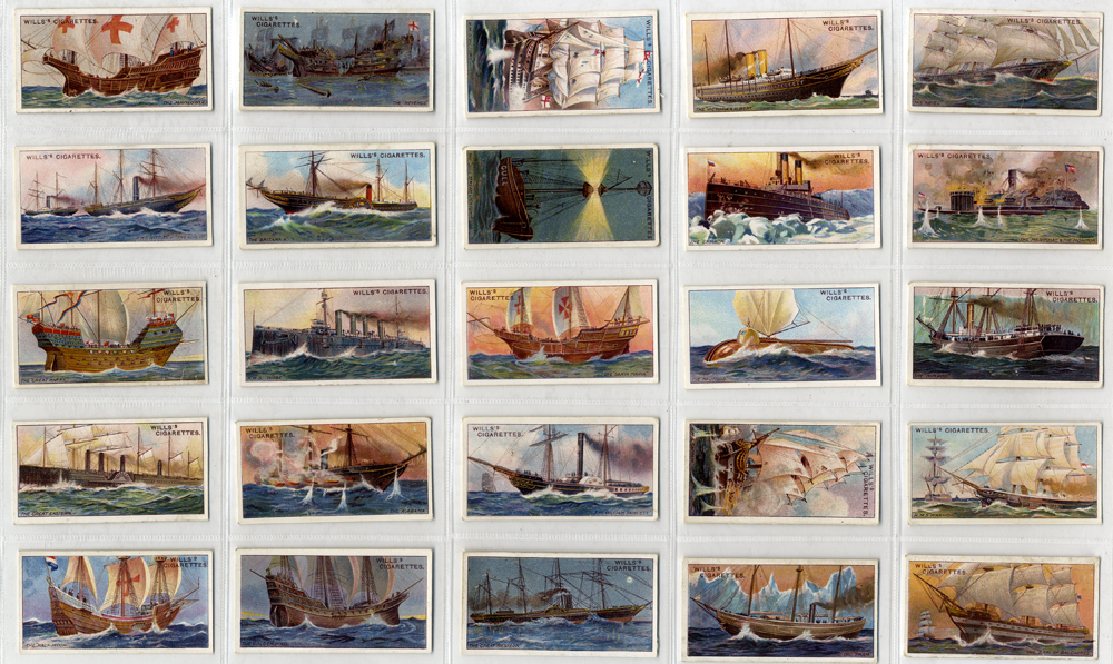 Wills 1911 Celebrated Ships, complete set of 50, Cat.£60