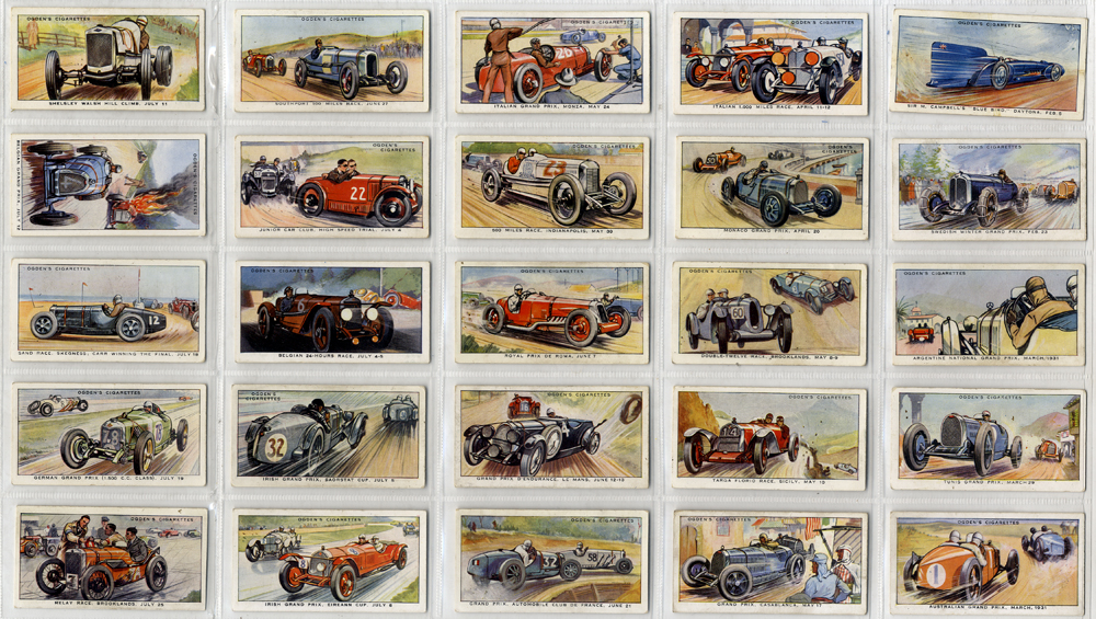 Ogdens 1931 Motor Races, complete set of 50, Cat. £137
