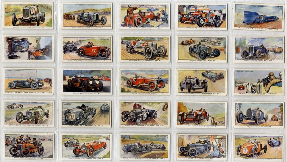 Ogdens 1931 Motor Races, complete set of 50, Cat. £137