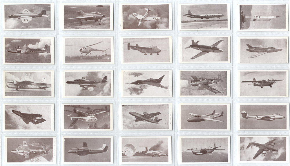 Osborne Tobacco Modern Aircraft (brown front), complete set of 50, Cat. £70