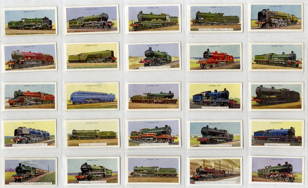 Barbers Tea 1956 Locomotives, complete set of 25, Cat. £45
