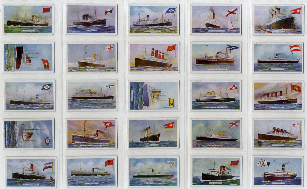Godfrey Phillips 1924 Ships and their Flags, complete set of 25, Cat. £75