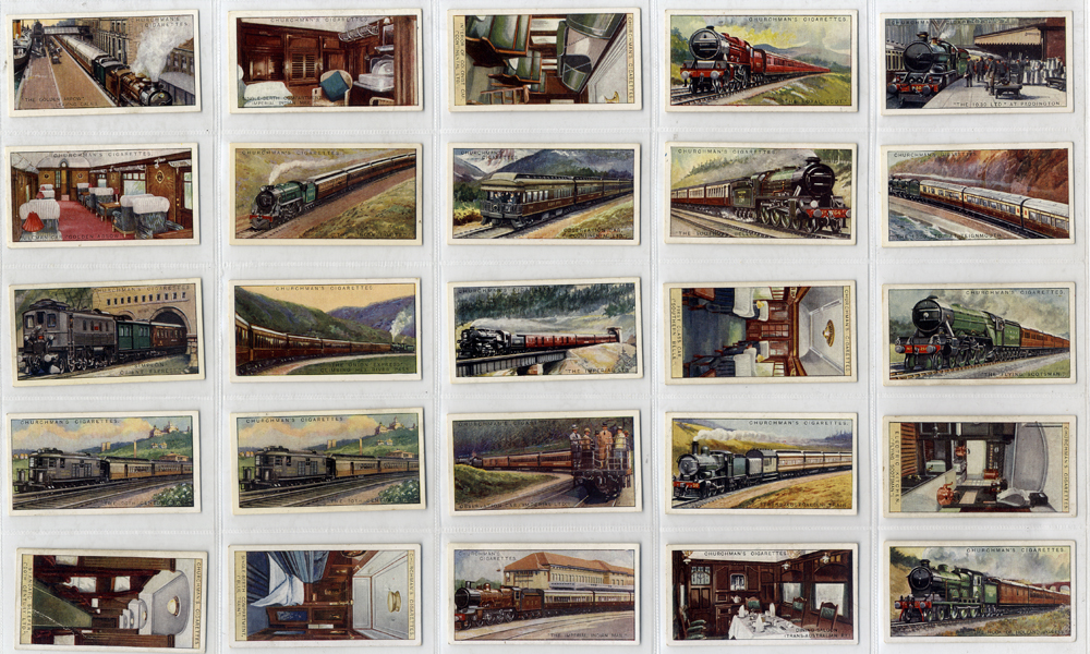 Chruchman 1929 Famous Railway Trains, complete set of 25, Cat. £65